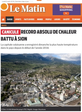canicule,chaleur,record,suisse,giec,